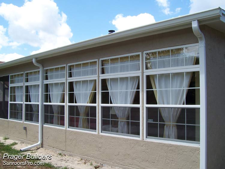 Winter springs sunroom addition glass windows prager for Large windows for sunroom