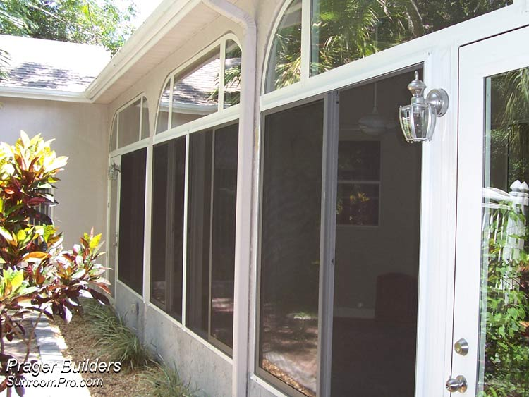 Oviedo Lanai Enclosure With Glass Windows Exterior