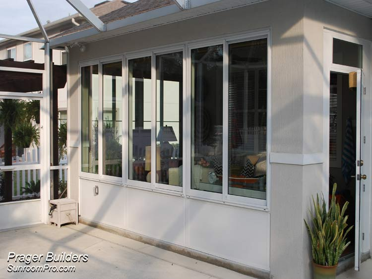 Deland porch lanai fill in glass windows prager builders for Large windows for sunroom