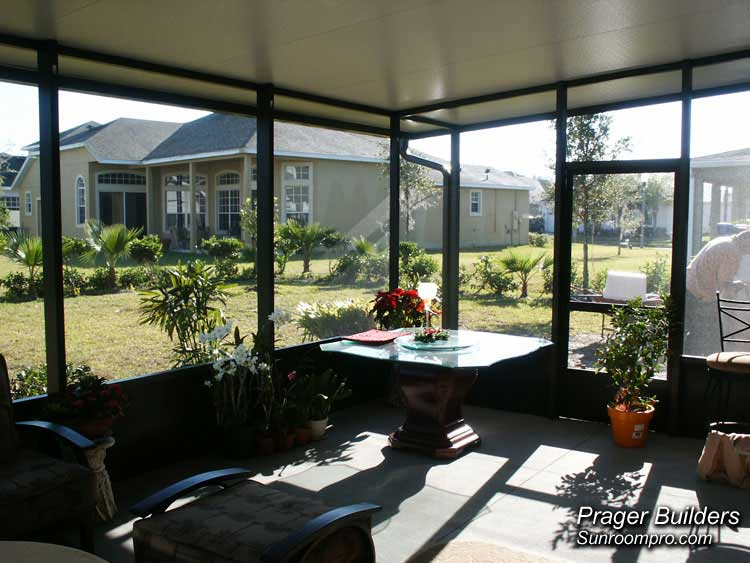 Screen room orlando florida with insulated roof prager Florida sunroom ideas