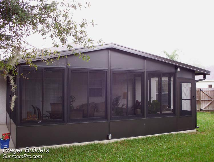 Lake mary florida sunroom addition acrylic windows prager Florida room addition