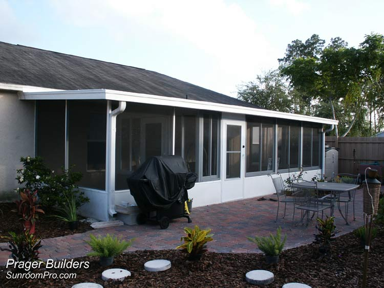 Sunroom sanford florida enclosure builder prager builders Florida sunroom ideas