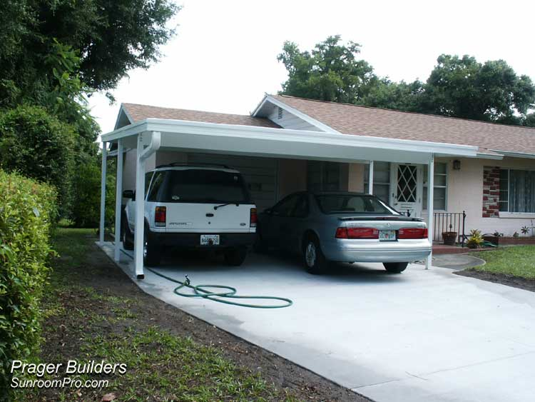 Carport cover orlando prager builders sunroom pro for Carport builder