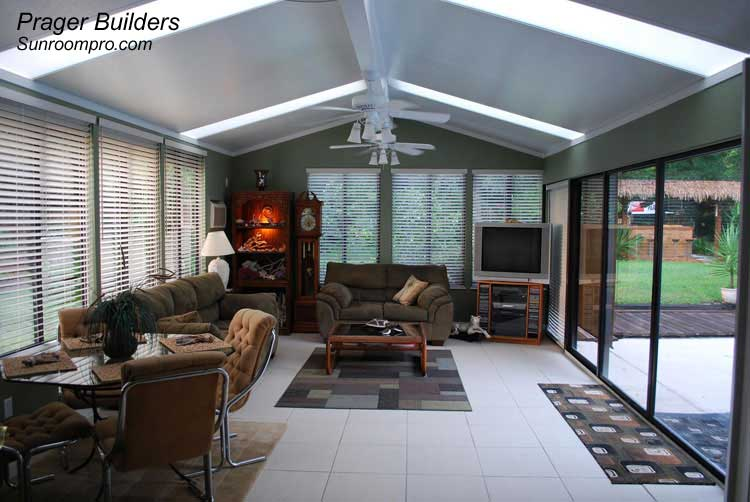 Debary sunroom addition with glass windows prager Florida sunroom ideas