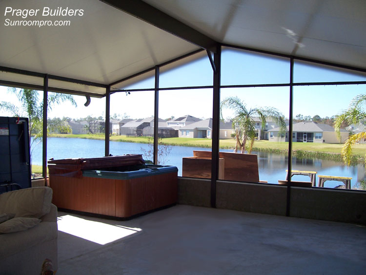 Screen room waterford lakes florida prager builders for How to build a florida room