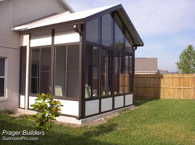Sanford Sunroom Addition Glass Windows Prager Builders: florida room addition