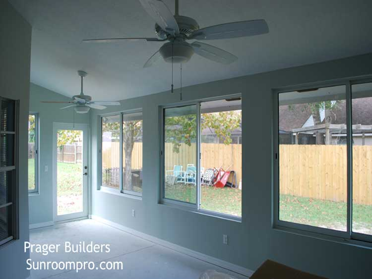 Florida Room Windows : Lake mary sunroom addition glass windows prager builders