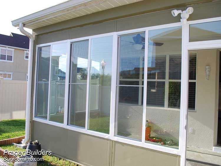 Orlando sunroom addition glass windows prager builders Florida sunroom ideas