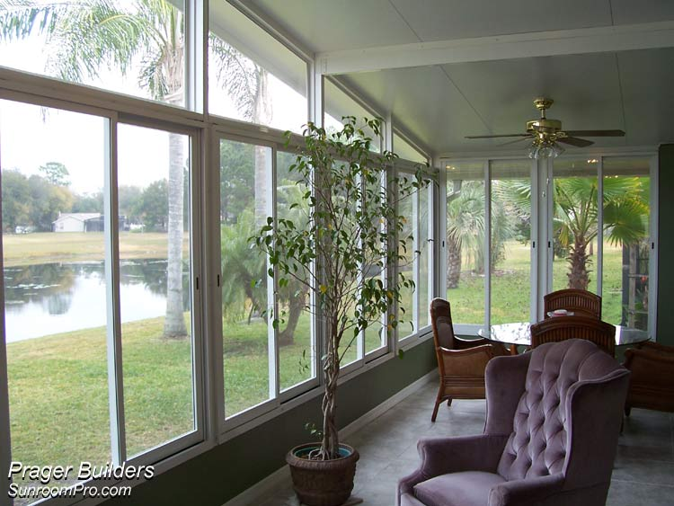 Casselberry sunroom addition glass windows prager Florida sunroom ideas