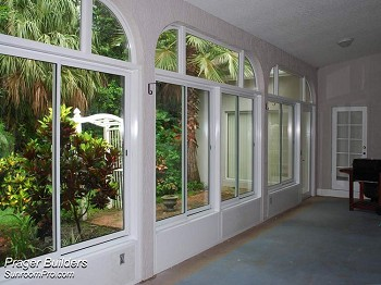 Porch Lanai Enclosure Glass Windows Oviedo Interior