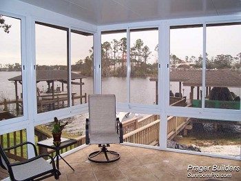 Winter Springs Florida Sunroom Acrylic Windows