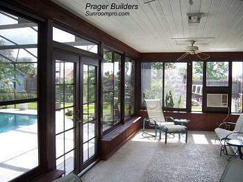 Orlando sunroom acrylic window enclosure prager builders Florida sunroom ideas