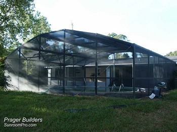 Orlando Florida Pool Screen Enclosure Prager Builders Sunroom Pro