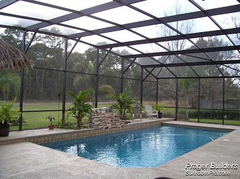 Lake mary florida pool screen enclosure prager builders - Swimming pool screen enclosures cost ...